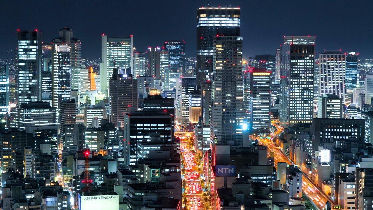 大阪の夜景を愛でる