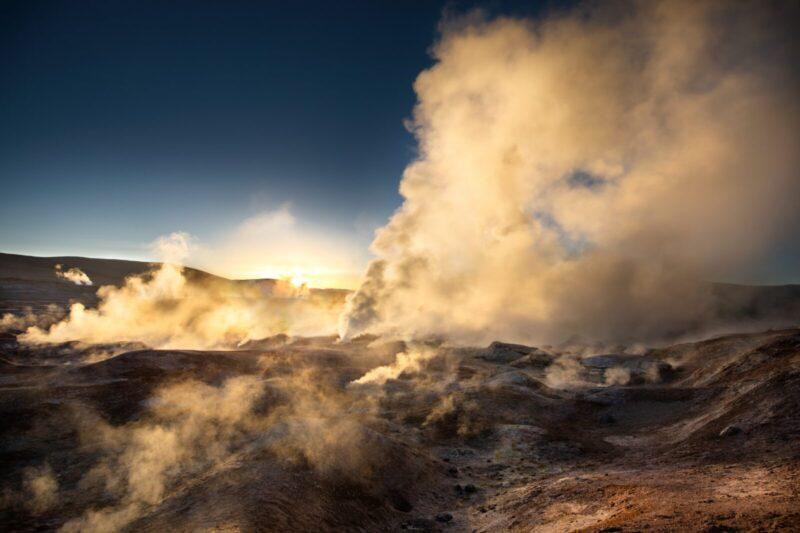 ボリビアの火山