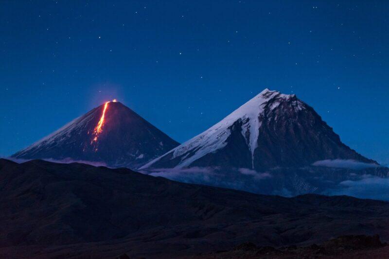 ロシア カムチャッカの火山